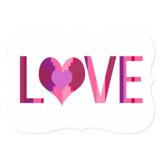 Amor simples convite 12.7 x 17.78cm