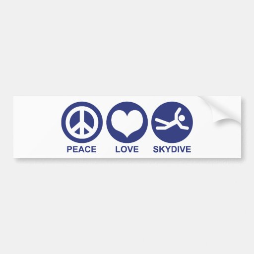 Amor Skydive da paz Adesivos