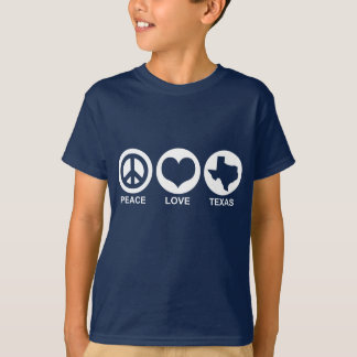Amor Texas da paz Camiseta