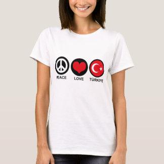 Amor Turkiye da paz Camiseta