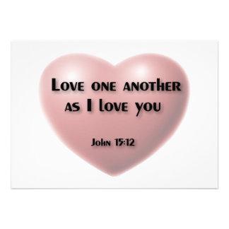 Amor um outro como eu te amo o cartão convite personalizado
