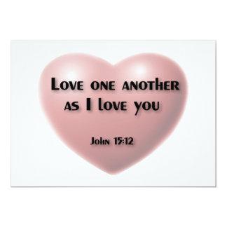 """""""Amor um outro como eu te amo"""" o cartão Convite Personalizado"""