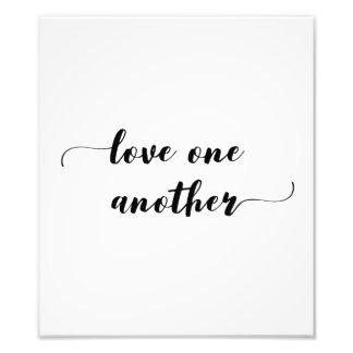 """""""Amor um outro"""" impressão Impressão De Foto"""