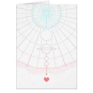 amor universal cartão comemorativo
