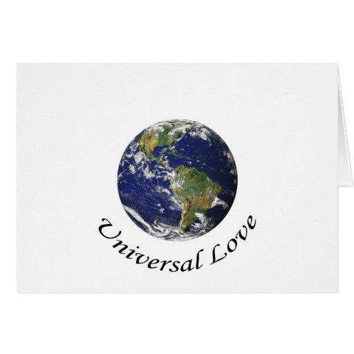 Amor universal na terra cartão