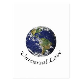 Amor universal na terra cartão postal