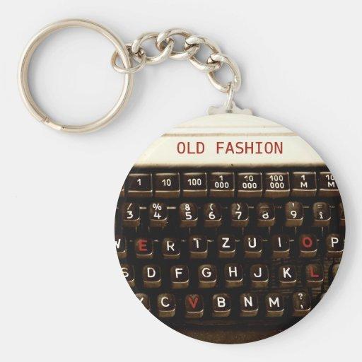 Amor velho da forma - máquina da máquina de escrev chaveiro