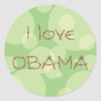 Amor verde Obama Adesivos