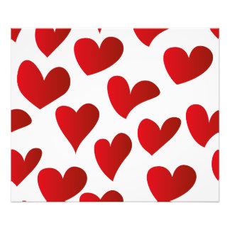 Amor vermelho pintado teste padrão do coração da impressão de foto