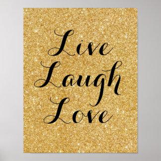 Amor vivo do riso, poster da arte do brilho