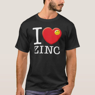 Amor W do zinco Camiseta