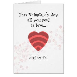 Amor & Wi-Fi - cartão romântico do dia dos