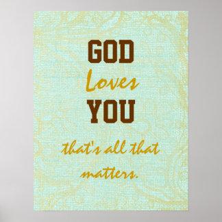 Amores que do deus você cita poster