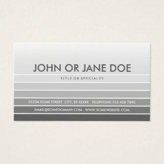 amostra de folha cinzenta cartão de visitas