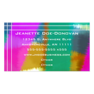 Amostras de folha da cor com o cartão de visita