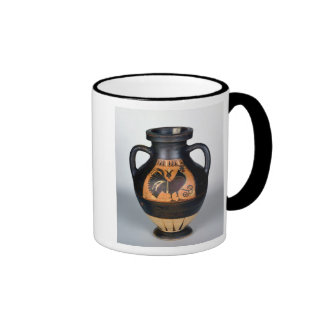Amphora que descreve um galo novo, estilo do Corin Canecas