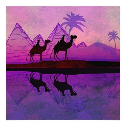 Ampliação da foto da caravana do camelo