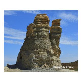 Ampliação da foto da rocha do castelo de Kansas Impressão De Foto