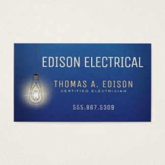 Ampola elétrica do eletricista | cartão de visitas