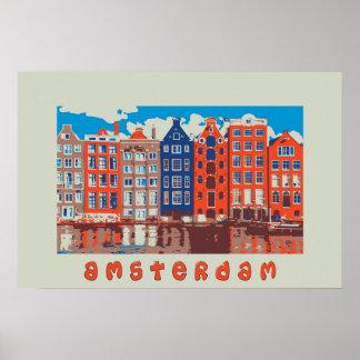 Amsterdão, Holland, poster de viagens