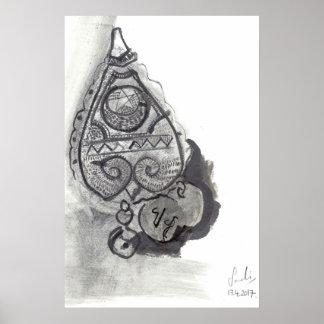 AMULETO: Impressão tribal das belas artes do