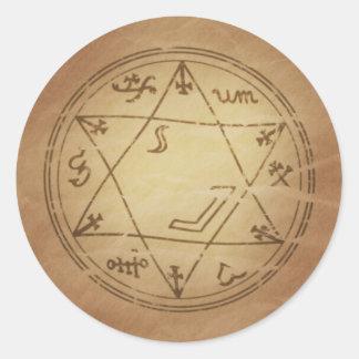 Amuleto mágico para encantos bem sucedidos da adesivo