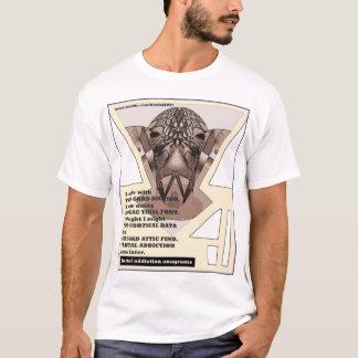 anagramas 15 do vício do fractal pelo fractalart camiseta