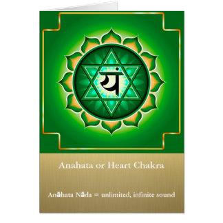 Anahata ou cartão de Chakra do coração