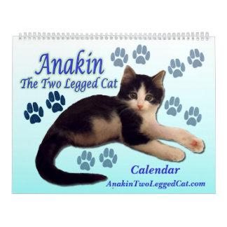 Anakin o calendário equipado com pernas do gato do