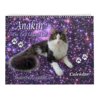 Anakin o gatinho equipado com pernas do calendário