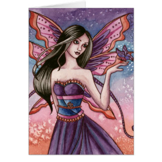 Analiese - cartão da fada da borboleta