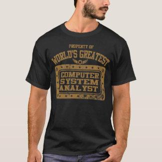 Analista do sistema informático do mundo o grande camiseta