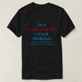 Analista dos dados camiseta