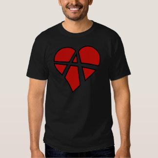 Anarquia imprudente do coração das relações radica t-shirts