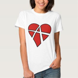 Anarquia imprudente do coração das relações tshirt
