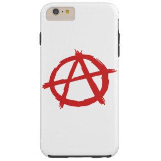 Anarquista vermelho um logotipo da anarquia do sím capas iPhone 6 plus tough