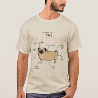 Anatomia de um Pug Camiseta