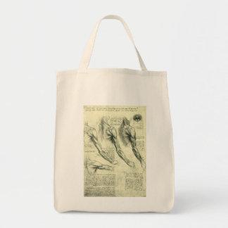 Anatomia do braço e do ombro por Leonardo da Vinci Sacola Tote De Mercado