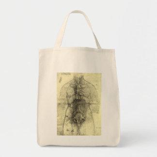 Anatomia humana, torso fêmea por Leonardo da Vinci Sacola Tote De Mercado