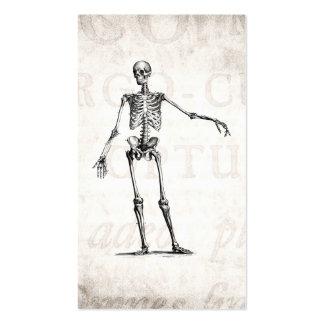Anatomia retro de esqueleto dos esqueletos dos 180 cartão de visita