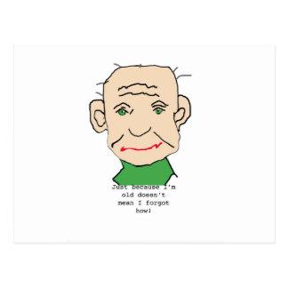 Ancião engraçado cartão postal