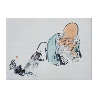 Ancião tartaruga velha impressão em tela canvas