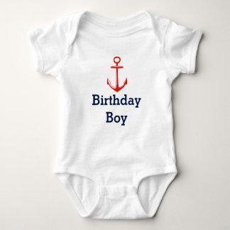 Âncora - camisa do menino do aniversário -