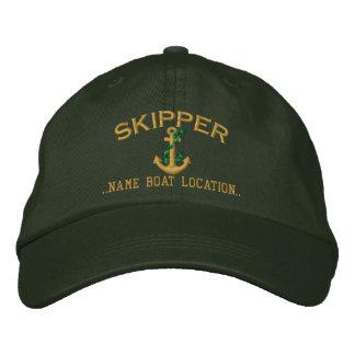 Âncora da corda do capitão seu a personalizar boné bordado