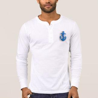 Âncora de feltro do azul tshirts
