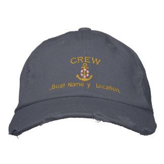 Âncora do grupo seu nome do barco seu nome ou boné bordado
