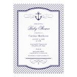 Âncora dos azuis marinhos e chá de fraldas náutico