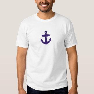 Âncora dos azuis marinhos t-shirts