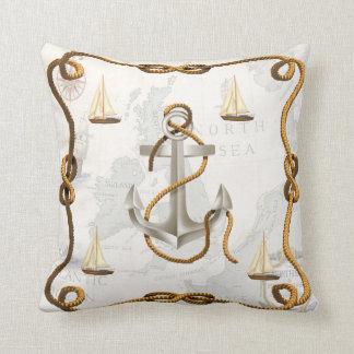 Âncora e travesseiro decorativo náuticos dos almofada