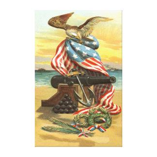 Âncora Eagle do canhão da praia da grinalda da ban Impressão Em Canvas